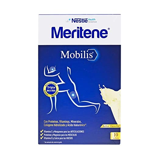 Amazon.com: Nestlé Meritene Mobilis Vanilla 10 Sachets - Food Supplement - Collagen - Vanilla Flavored - Vitamin Shake - Gluten-free - Lactose-free ...