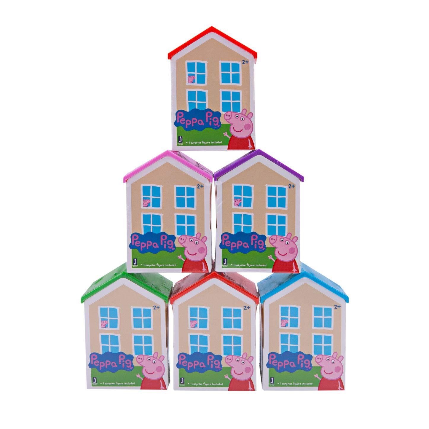 Amazon Com Peppa Pig Blind House Assortment Polybag Of 6 Series 1