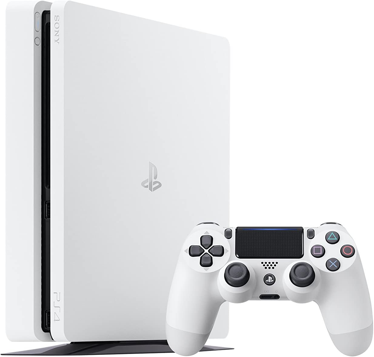 PS4 Slim 500Gb Blanca Playstation 4 Consola - Pack 2 Juegos - FIFA 17 + GTA V: Amazon.es: Videojuegos