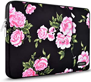 Hseok Laptop Sleeve 15.6 Inch Case, Compatible MacBook Pro 16 15.4 inch, Surface Book 2/1 15 inch and Most Popular 15-15.6-16 inch Notebooks, Peony