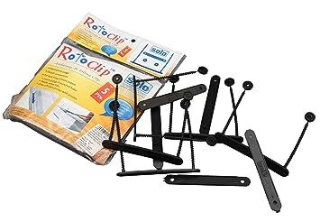 Solo plástico roto Clip Organizador de hojas sueltas archivador (de 5 pc - color disponible, color negro: Amazon.es: Oficina y papelería