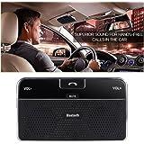 Kit DLAND Bluetooth 4.0 visiera Vivavoce da auto vivavoce da auto per iPhone, Samsung, HTC e tutti gli altri cellulari