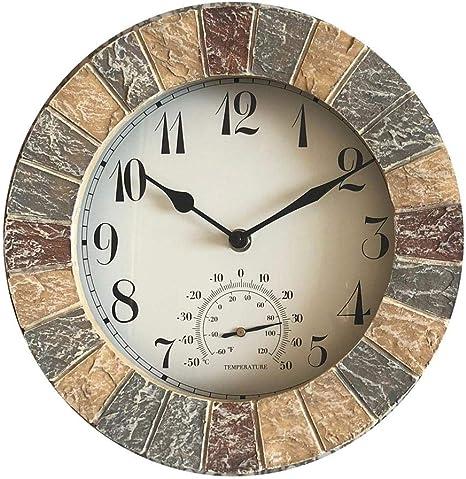 QHE173G Horloge de chemin/ée /à quartz avec alarme Finition dor/ée 84 mm