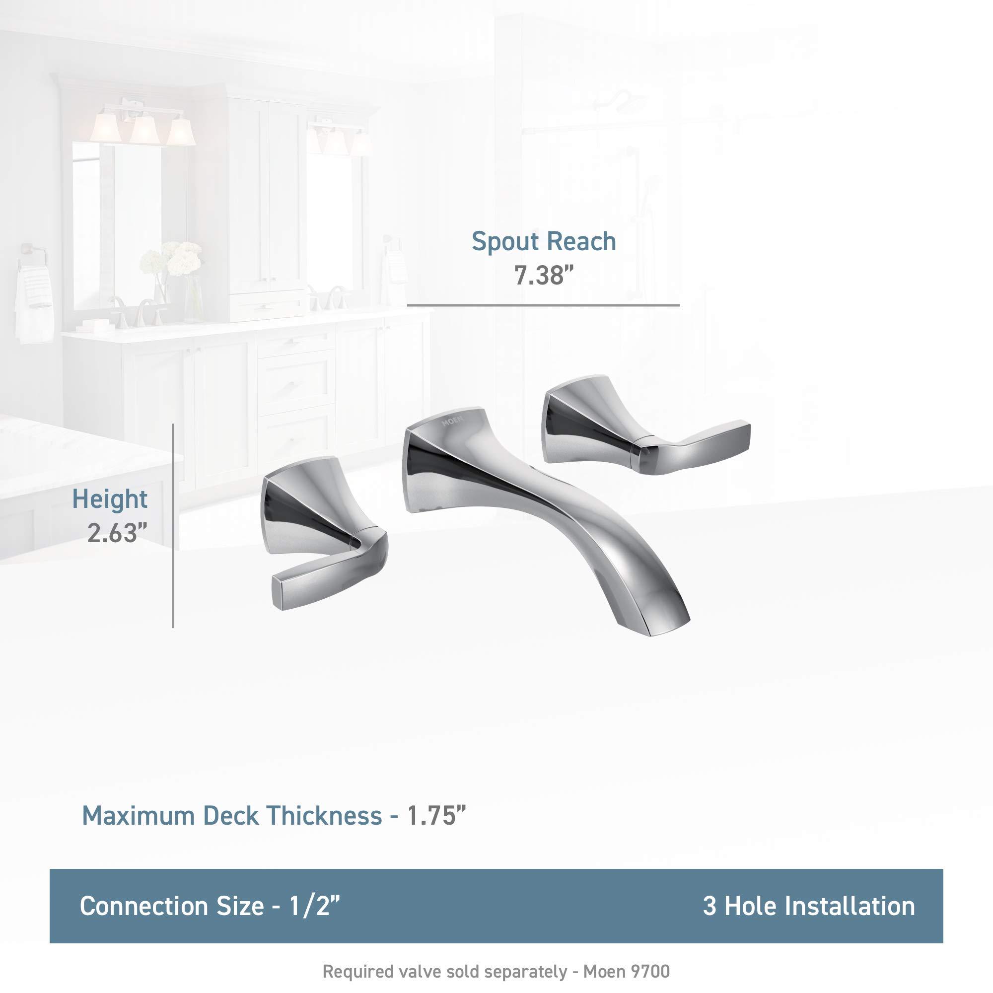 Cheap Moen T6906bn Voss Two Handle Wall Mount Bathroom Faucet