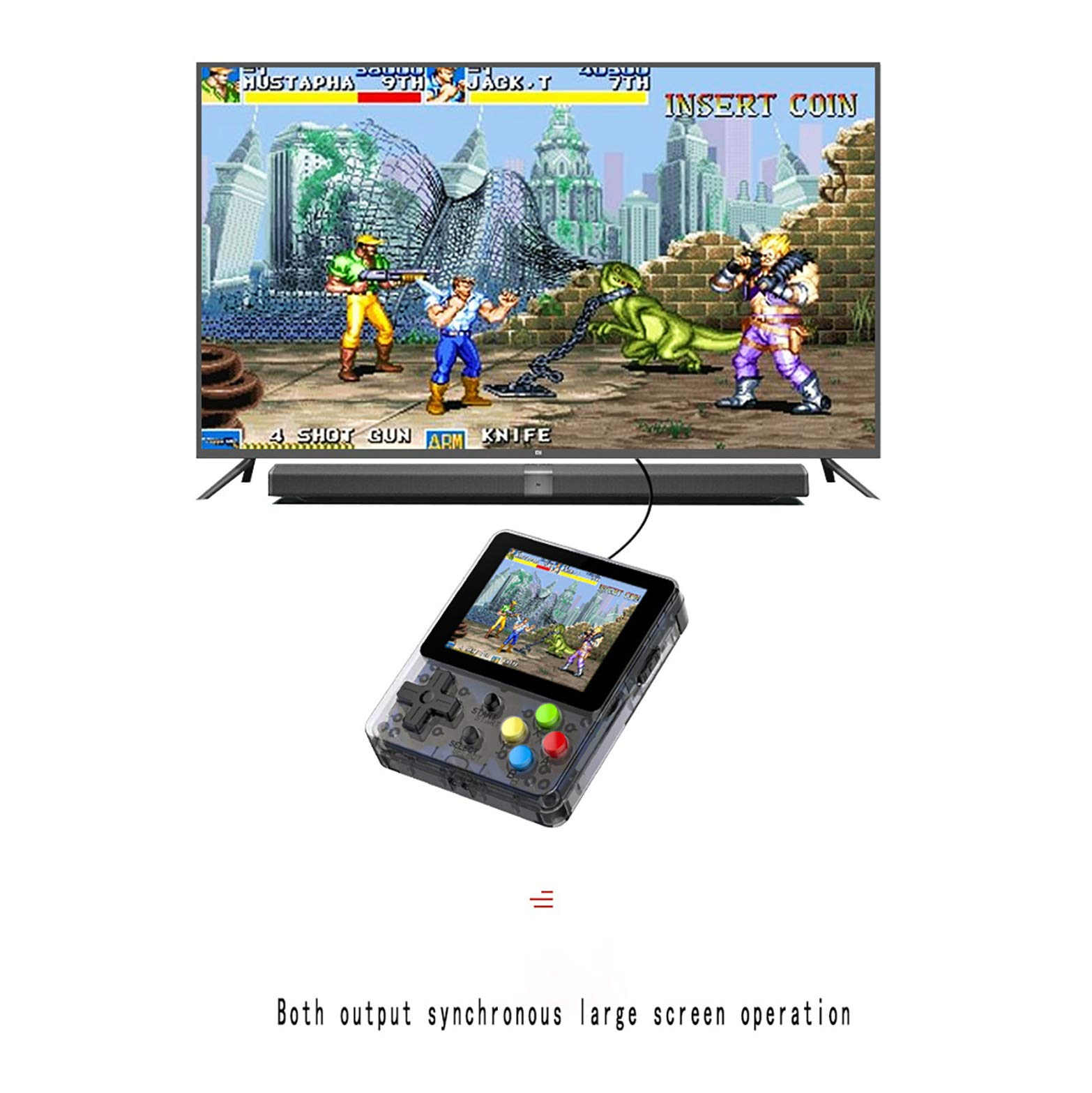 Basde LDK Game Handheld Gaming Console, Retro Portable Gaming System Handheld Game Console Kids Adults Screen by 2.6 Thumbs Mini Palm Nostalgia Console Children of Family TV Video (Yellow) by Basde (Image #3)