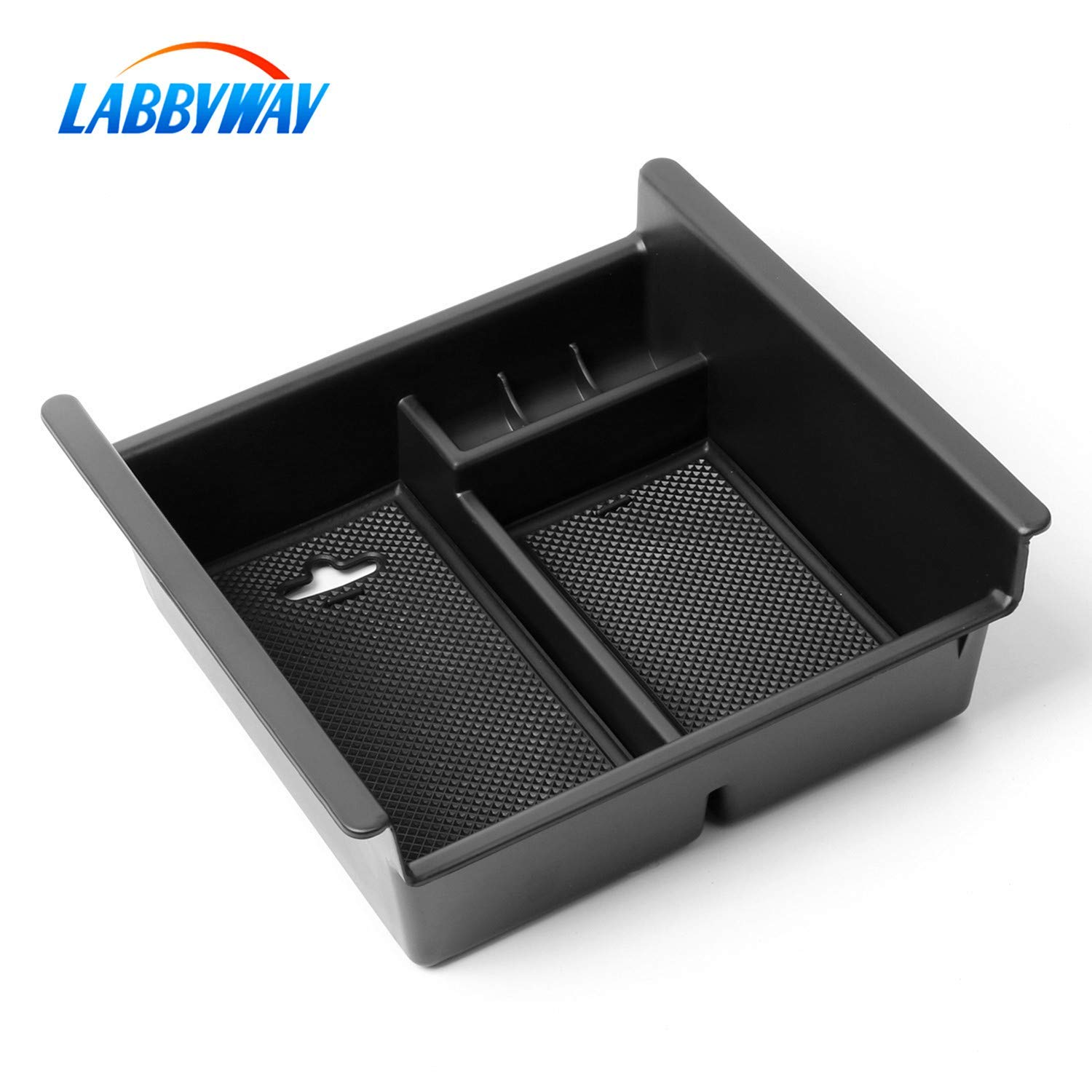 Armrest Box Secondary Storage Fits Toyota 4Runner 2010-2019 Labbyway Center Console Organizer Insert ABS Black Materials Tray