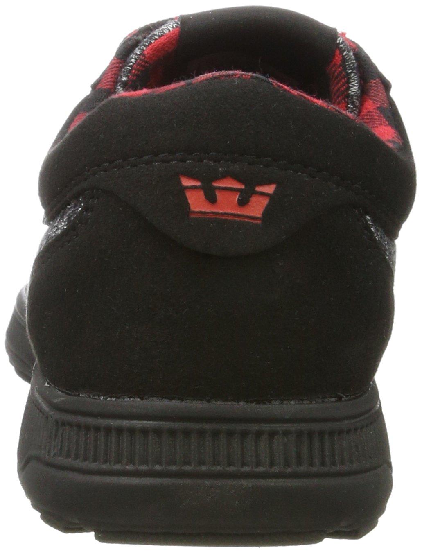 Supra Men's Hammer Run Skate Shoe B06XY8M4VG Medium / 9.5 C/D US Women / 8 D(M) US Men|Black/Risk Red-black