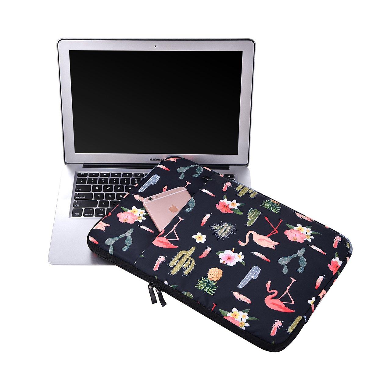 Lamyba - Funda para portátil de 13 a 15,6 Pulgadas Flamingo-Black 15,6 Pulgadas