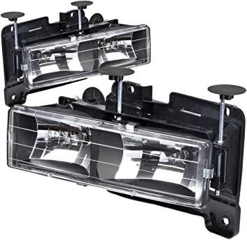 Driver and Passenger Side DNAMotoring HL-OH-8P-C1094-BK Headlight Assembly