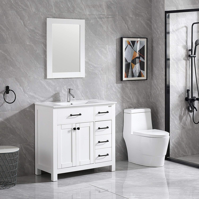 "Wonline 36"" Bathroom Vanity and Sink Combo Cabinet ..."
