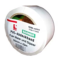 Barnier® PVC-Band 50 mm x 33 m weiss/Rolle