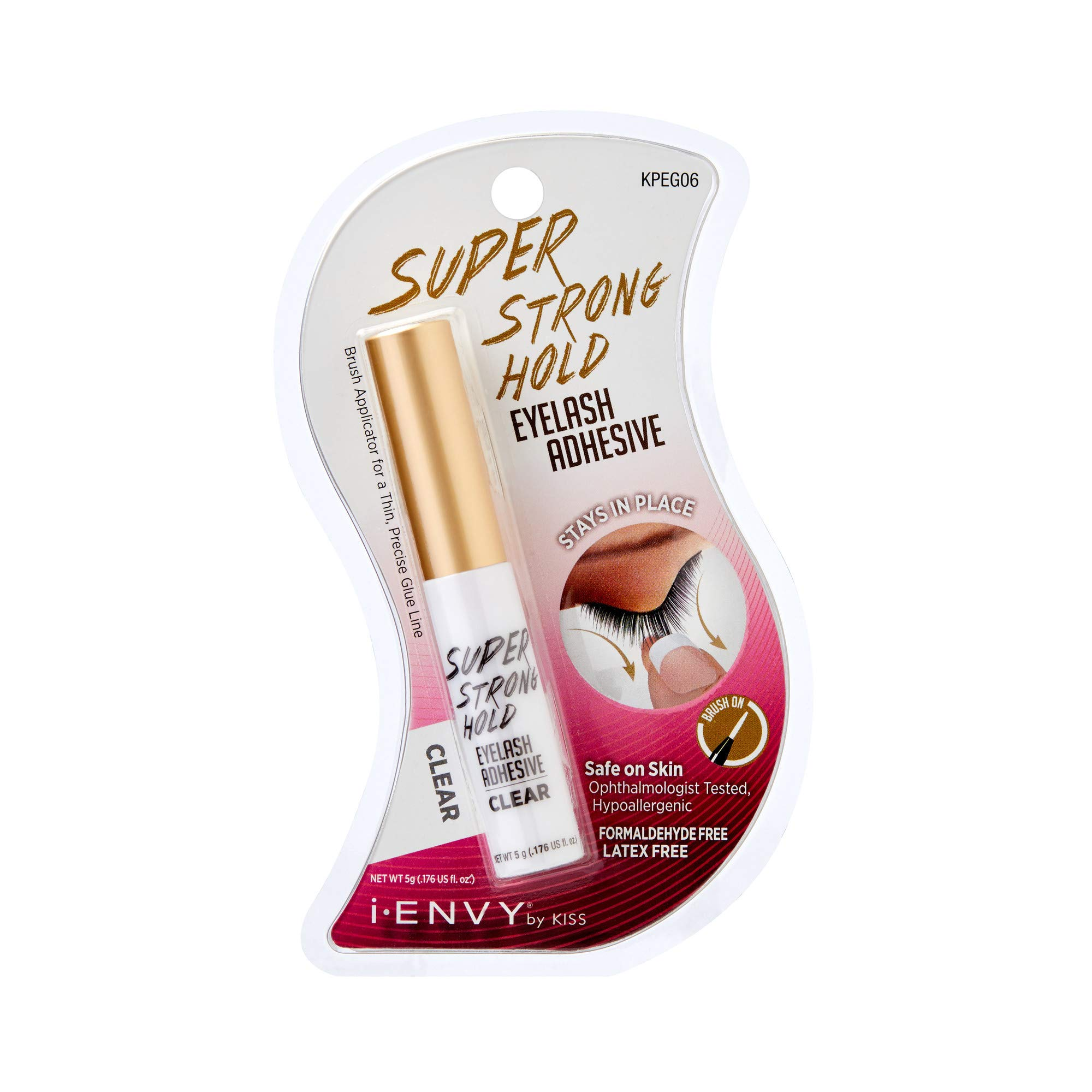 1dd5c549f46 Amazon.com : KISS i Envy Eyelash Adhesive Super Strong Hold Clear 0.176 oz  : Beauty