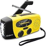 [Upgraded Version]Emergency Radio, Esky 3 LED Lights Flashlight Hand Crank Radio, Portable Solar Radio AM/FM NOAA…