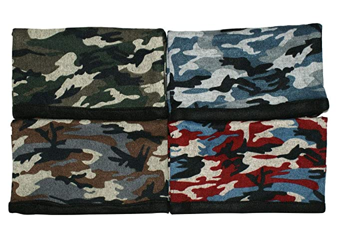 c01cc55016ebf Top 4 Pack Camo Army Pattern Neck Warmer Gaiter for Men Best Great ...