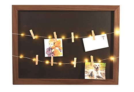 Amazon.com: Ideas In Life Light Up Photo Clip Chalk Board ...