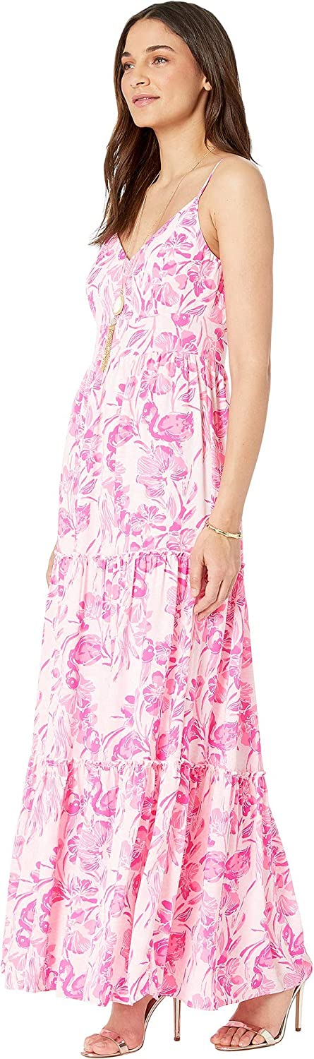 c20265bfda7219 Amazon.com: Lilly Pulitzer Women's Melody Maxi Dress Coral Reef Tint  Flamingle 0: Clothing