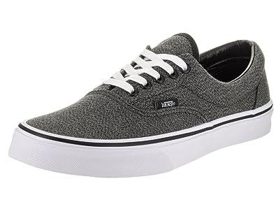 ca63875948a2 Image Unavailable. Image not available for. Color  Vans Unisex Era  (Suiting) Black True White Skate Shoe ...