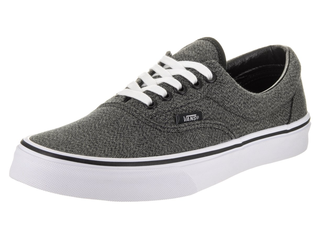 Vans Unisex Era Skate Shoes, Classic Low-Top Lace-up Style in Durable Double-Stitched Canvas and Original Waffle Outsole B01I2B8ZGO 5.5 B(M) US Women / 4 D(M) US Men|Black/True White