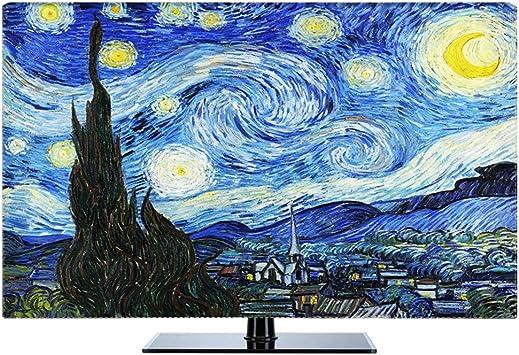 Ting Ting Dust Cover Housse TV Etanche Couverture en Tissu Poussi/ère Housse De Protection Poussi/ère Tingting-TV Couverture Color : Blue, Size : 28inch