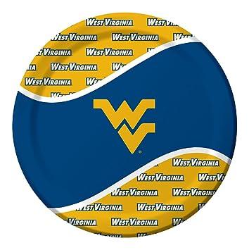 West Virginia Mountaineers Dinner Paper Plates 8-Count  sc 1 st  Amazon.com & Amazon.com: West Virginia Mountaineers Dinner Paper Plates 8 ...