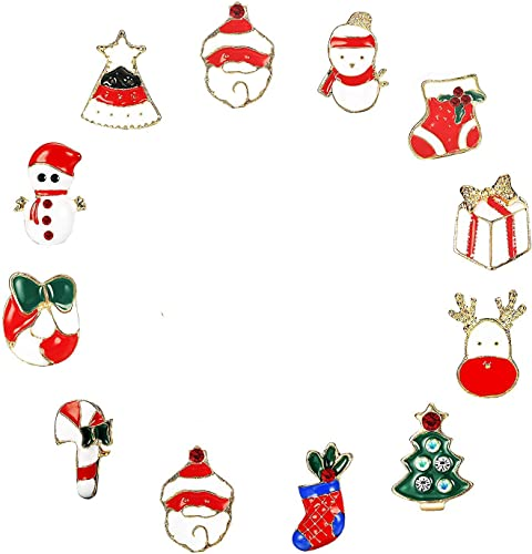 Broche Noel Finrezio Broche Noël Christmas Broche Émaillé pour Enfants Filles