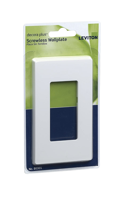 leviton 80301sw 1gang decora plus wallplate screwless snapon mount white switch plates amazoncom