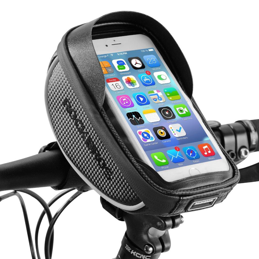 RockBros Bike Phone Bag Waterproof Handlebar Bicycle Phone Case Sensitive Phone Mount Bag Holder For iPhone X 8 7 Plus 6s Below 6.0''