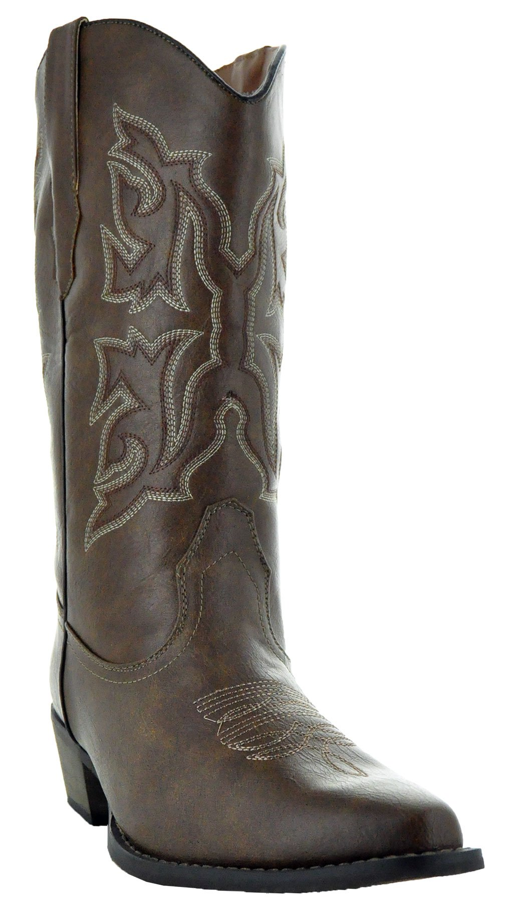 Country Love Pointed Toe Women's Cowboy Boots W101-1001 (8.5, Brown)