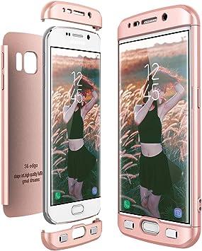 CE-Link Funda Samsung Galaxy S6 Edge, Carcasa Fundas para Samsung Galaxy S6 Edge, 3 en 1 Desmontable Ultra-Delgado Anti-Arañazos Case Protectora: Amazon.es: Electrónica