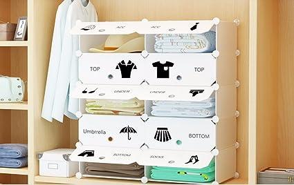 Cajas de almacenamiento cajas de almacenamiento de plástico Cajón Armario para profundizar 1 Columna 4