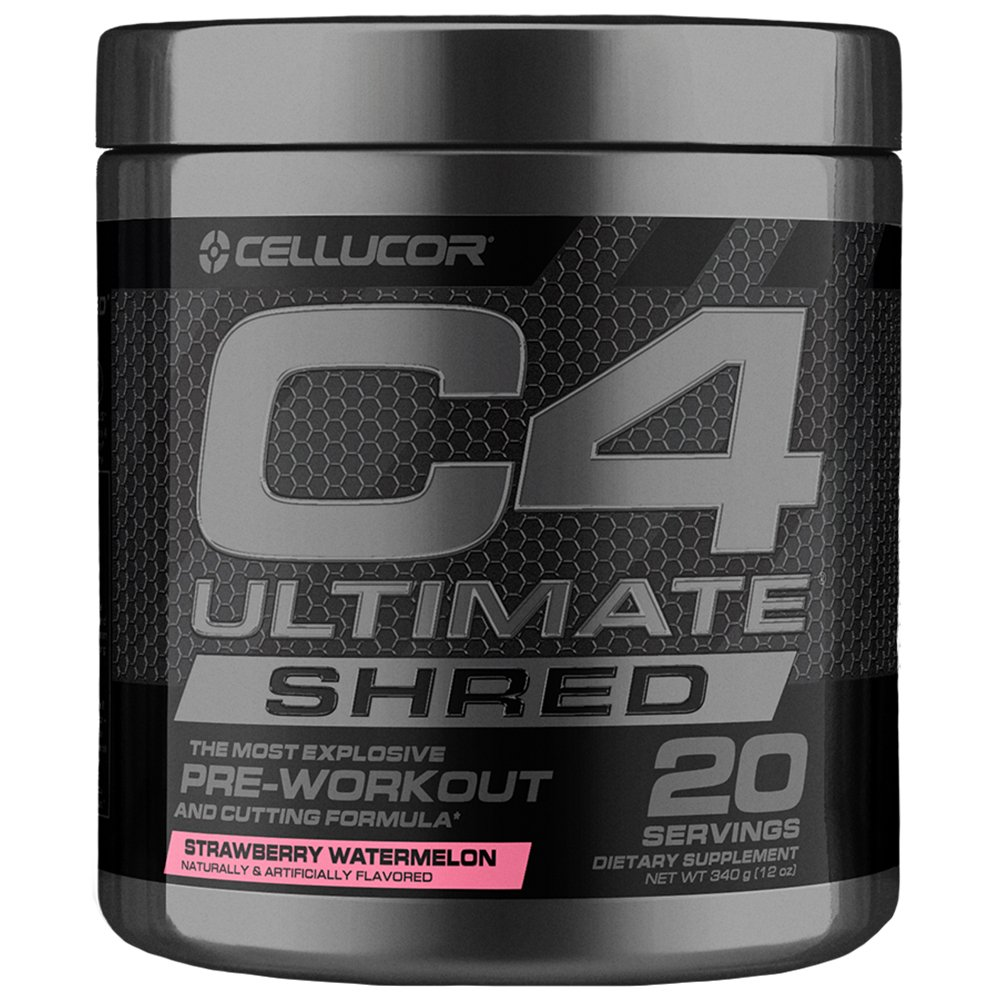 Cellucor C4 Ultimate Shred Pre Workout Powder, Fat Burner for Men & Women, Weight Loss Supplement with Ginger Root Extract, Strawberry Watermelon, 20 Servings by Cellucor