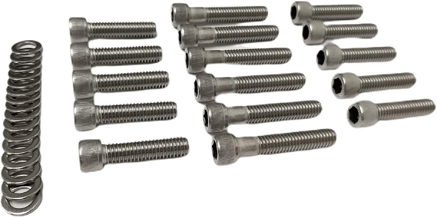 Z Whip BBF Stainless-Steel Intake Manifold Bolt Kit Stainless Steel Socket Cap BOLTS Compatible with Ford Big Block V8 Engines 1968-1987 429 460 Cars and F-series Trucks F250 F350 BB Ford