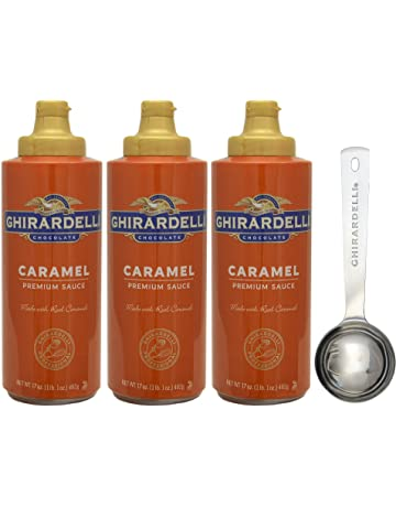Ghirardelli Caramel Sauce Squeeze Bottle, 17 Ounce (Pack 3) - with Limited Edition