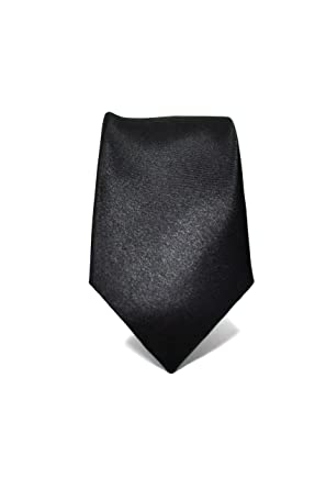 Oxford Collection Corbata de hombre Negro Delgada - 100% Seda ...