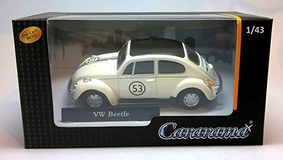 Cararama Vw Käfer Nummer 53 Herbie Druckguss Modell Auto Von The Love Käfer Spielzeug
