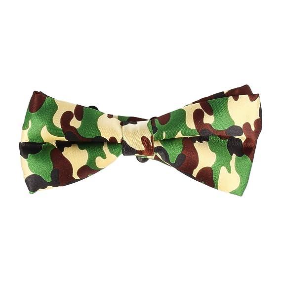 Mr Icone corbata de lazo Trenzada arco corbata verde 12 x 6 cm ...