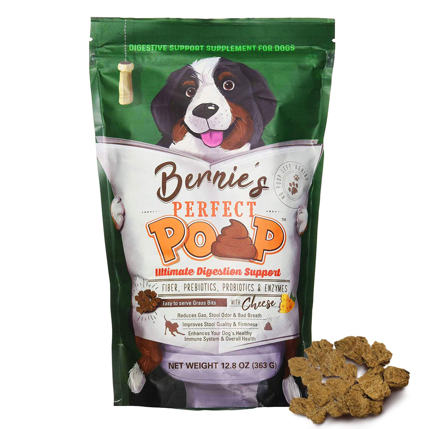 Bernie's Perfect Poop Digestion & General Health Supplement for Dogs: Fiber, Prebiotics, Probiotics & Enzymes Relieves Digestive Conditions, Optimizes Stool, and Improves Overall Health & Wellness by Bernie's Perfect Poop