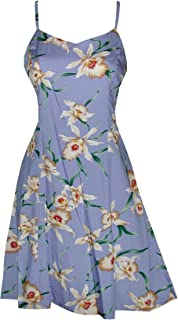 product image for Paradise Found Womens Star Orchid Princess Seam Mini Sundress in Periwinkle - XS