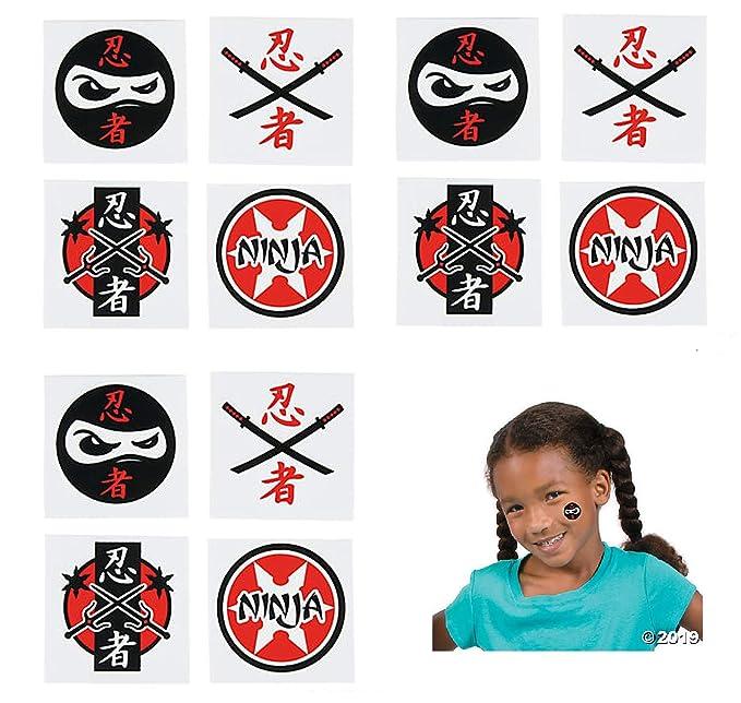 Amazon.com: 144 FUN Ninja Warrior TATTOOS - PARTY Favors ...