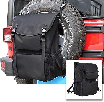 Spare Tire Trash and Gear Bag w//Seat Organizer for Jeep//SUV//RV