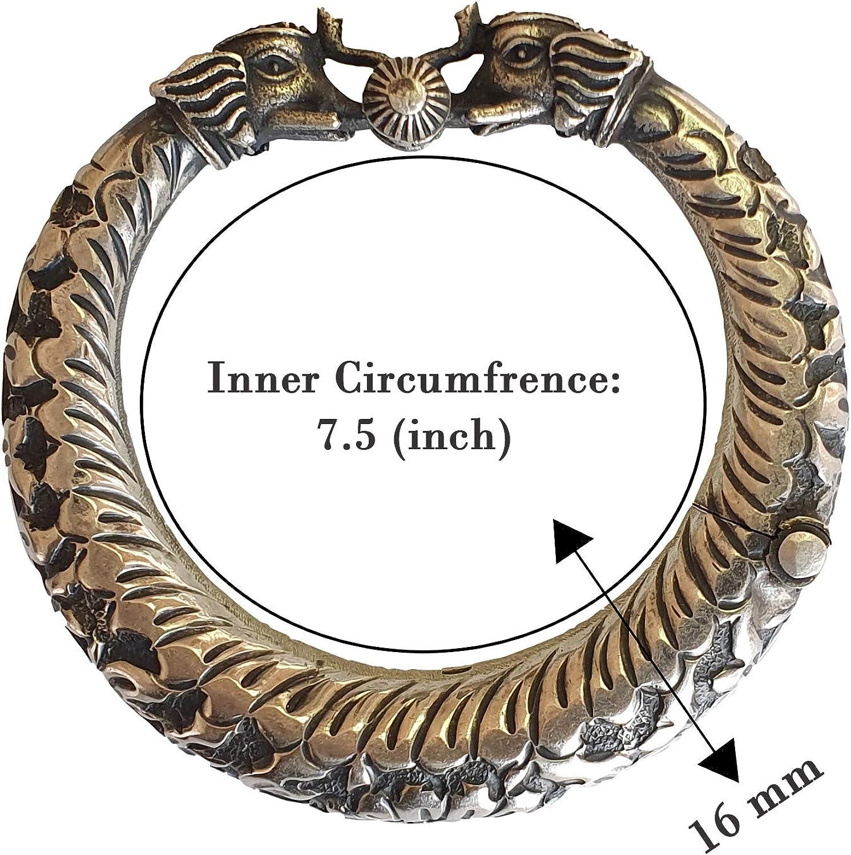 Vintage Oxidized 925 Silver Bracelet