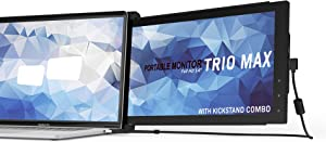 Mobile Pixels 14'' Trio Max (w/Kickstand) Portable Monitor for Laptops,Full HD IPS USB A/Type-C USB Powered On-The-Go, Plug and Play Mac Windows Nintendo Switch (Trio Max (14.1 inch))