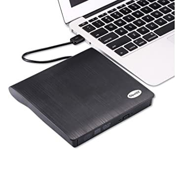 cipotziz externo USB 3.0 controlador de DVD/CD-RW grabadora reproductor para MacBook Pro, Air y Ultra portátil PC Ordenador de sobremesa, Plug and Play, ...