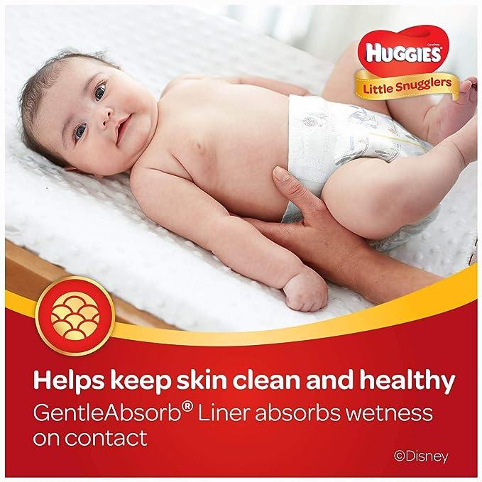 HUGGIES Pañales Little snugglers, para recién nacido, 88 unidades ...