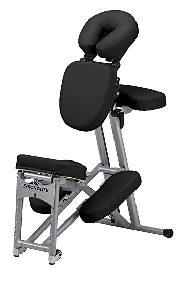 stronglite stronglite ergo pro portable massage chair black aluminum