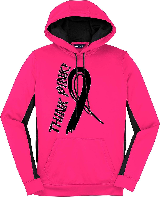 White Think Pink Hoodies Pink Ribbon Breast Cancer Awareness Sweatshirts
