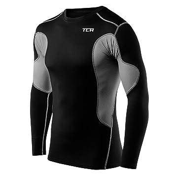 Medium Men Black//Space Grey TCA Mens /& Boys Hyperfusion Compression Base Layer Top Long Sleeve Under Shirt