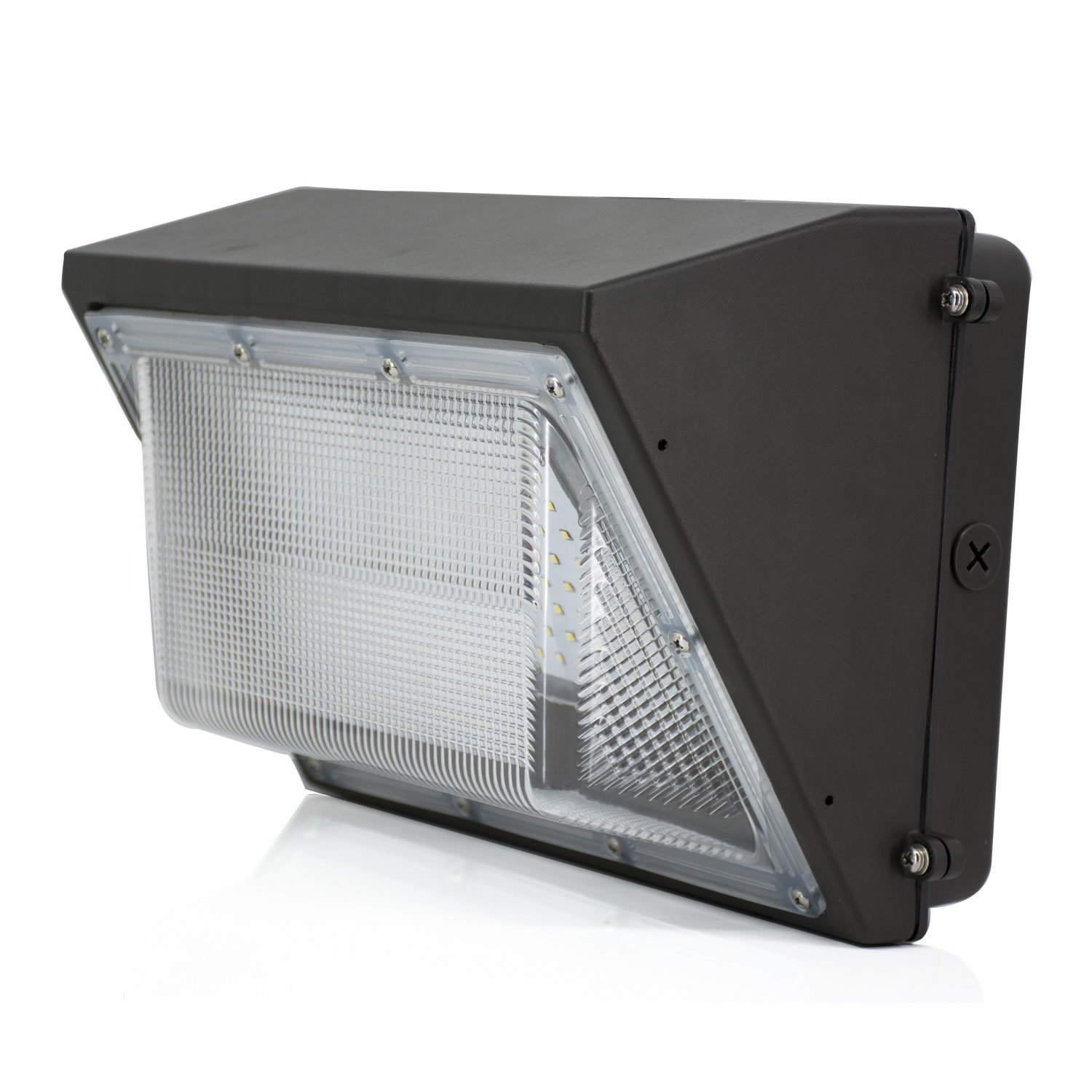 100W LED Wall Pack Light, JESLED Wall Pack LED Outdoor Flood Lighting, 5000-5500K Daylight White, 12800lm, 400-600 Watt HPS/HID Replacement, AC100-277V Industrial, Commercial, Residential Wall Lamps