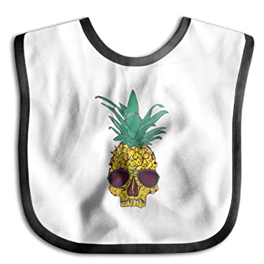 Super Absorbent Cotton Skin-friendly Boy&Girl Unisex Pineapple Glasses Saliva Towel
