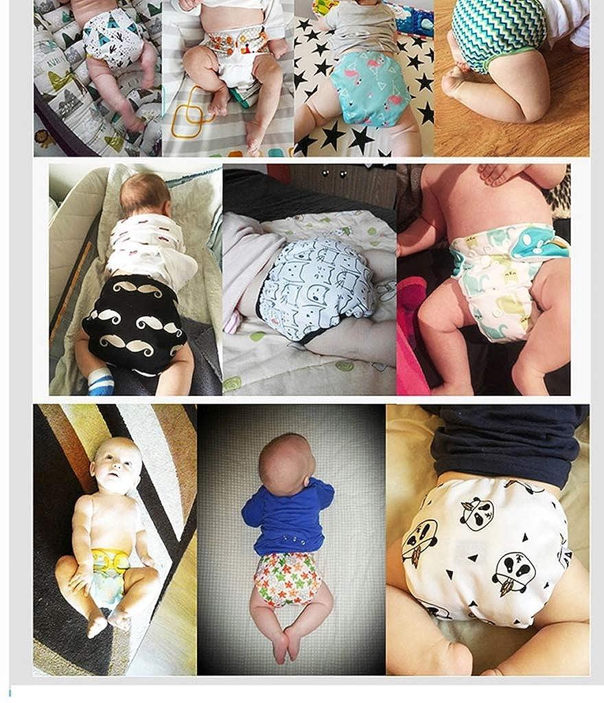 WanYanng Unisex Baby Windelhose Stoffwindeln Wiederverwendbar Windeln Stoffwindel Bl/ümchen /überhose Druckkn/öpfe Schwimmwindel Suitable for 3-15kg Waschbar Windel/überhose